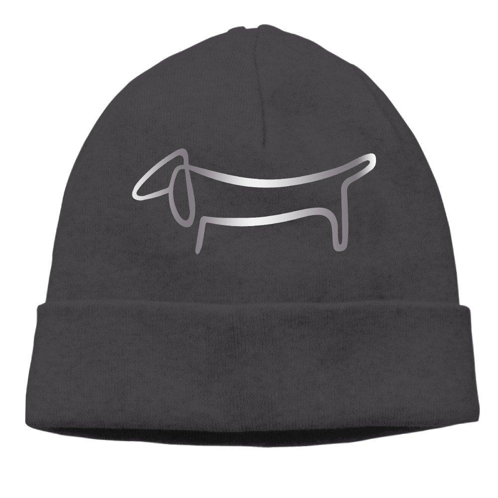 Dachshund Weiner Dog Sticke Platinum Style Classic Beanie Hat Black LZMUZLE