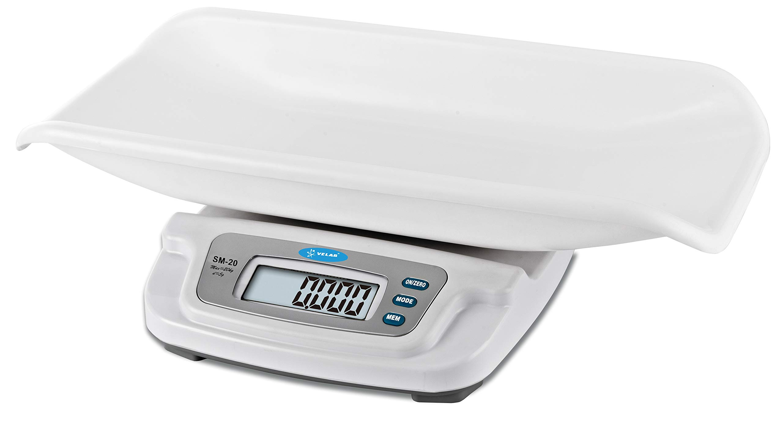Baby Infant Toddler Scale 44x0.01 lb / 20kg x 5g,AC Adapter and Battery, VELAB VE-20 by VELAB