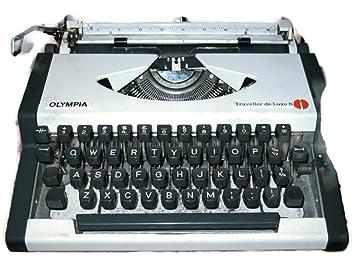 Maquina de escribir OLYMPIA TRAVELLER DELUXE vintage: Amazon.es: Oficina y papelería