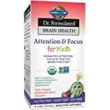 Garden of Life Dr. Formulated Brain Health Attention & Focus for Kids - Watermelon Berry Flavor 60 Chewable Tablets…