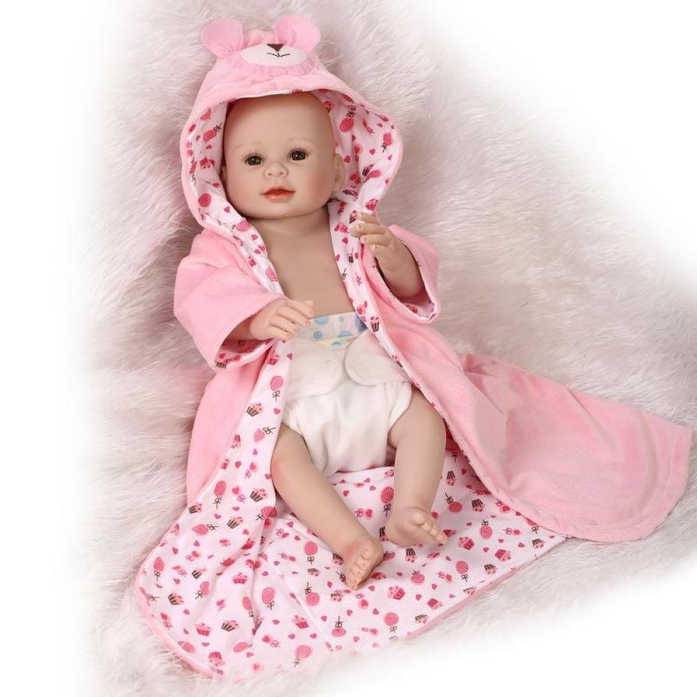 GHCX Silikon-Simulation Reborn Puppe Süße Mädchen Kann Das Wasser Begleiter Spielzeug Baby Persönlichkeit Geburtstagsgeschenk 50CM