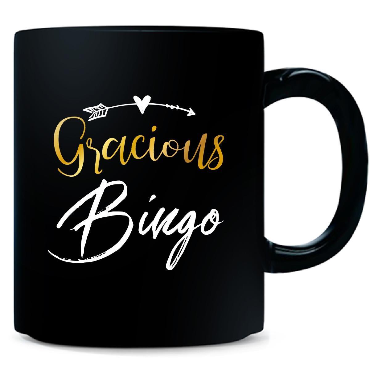 Gracious Bingo Name Mothers Day Present Grandma - Mug by My Family Tee