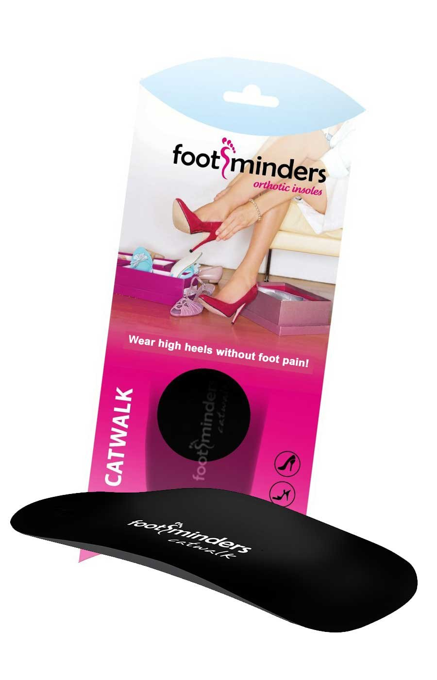 Footminders Catwalk Orthotic Arch Support Insoles for High Heel Shoes, Pumps, Sandals and Boots (Pair) (Small: Women 7-8½) - Relieve Foot Pain Due to Wearing High Heels by Footminders