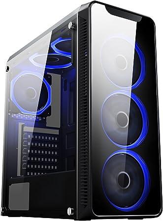 Cit Blaze Gaming Gehäuse Mit 6 X Lüfter Mit Je Einem Computer Zubehör