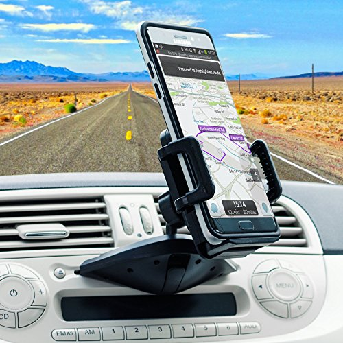 CD Player Phone Holder - CD Slot Phone Mount - Universal Cell Phone Dock for Car - 360 Degree Rotation - Olixar - Universal Compatibility - iPhone, Samsung, Huawei, Sony, etc