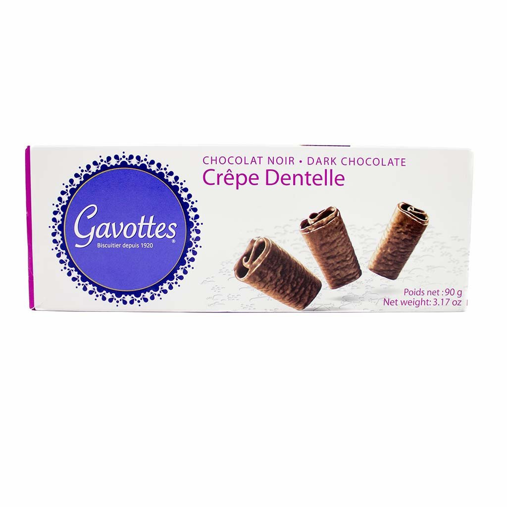Gavottes Crepe Dentelle in Chocolate - Dark Chocolate (3.17 ounce) by Gavottes
