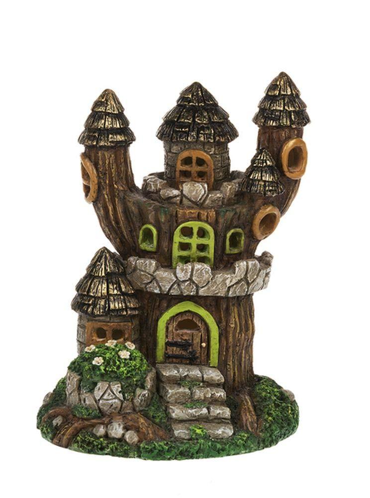 Fairy Garden Mini - Fantasy Light Up Triple Tower House