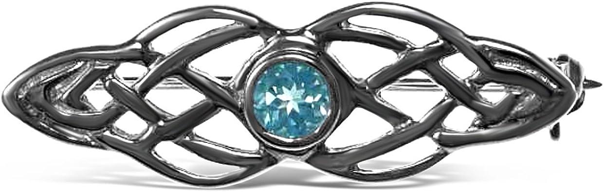 Sterling Silver Celtic Brooch Irish//Scottish Pin