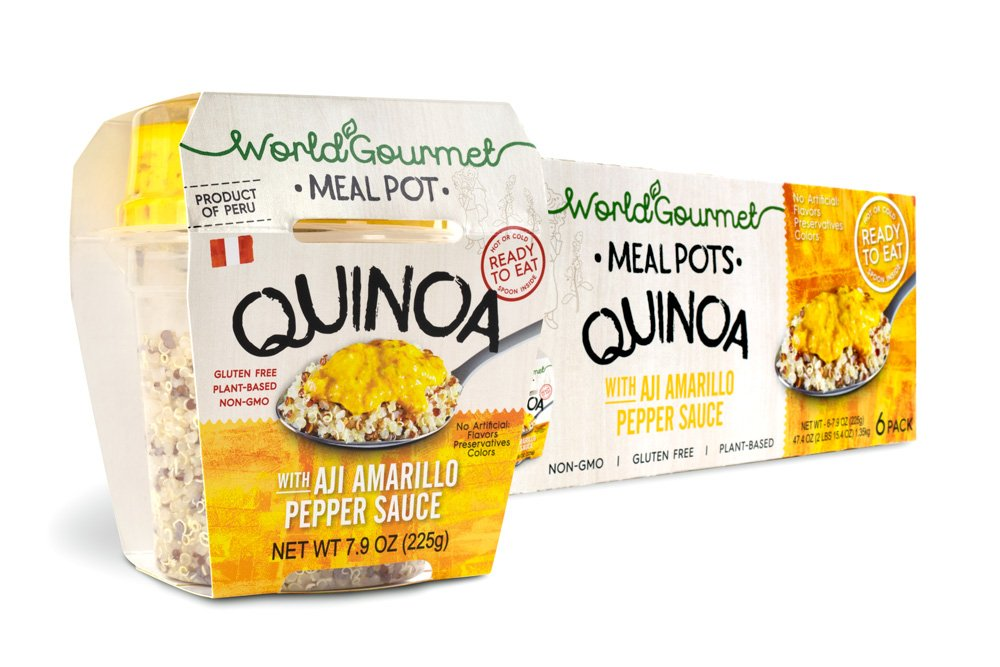 World Gourmet Quinoa Ready To Eat Meal With Aji Amarillo Pepper Sauce (Pack of 6)