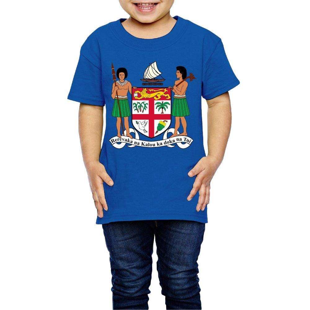 Tghhujffcbjj Girls Coat Of Arms Of Fiji T Shirt Perfect Gift To Kids Or Parents Royalblue 5-6 Toddler