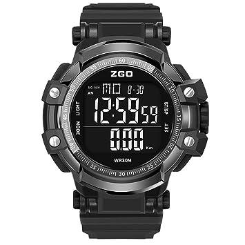 KULY&GG Relojes Deportivos para Hombre - Relojes De Pulsera Electrónicos Multifuncionales, Impermeables, Militares Y