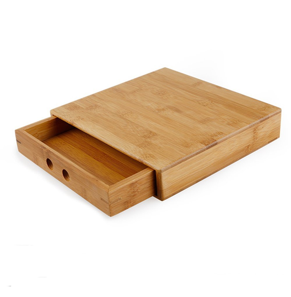 Puer Tea Box Pallet Natural Bamboo Pu'er Tea Cake Brick Breaking Tray Bamboo Case - Puerh Tea Cake Package Gift Case Handmade - Eco-Friendly Tea Set Square Pu'er Tea Tray Kung Fu Tea accessories by Rluii