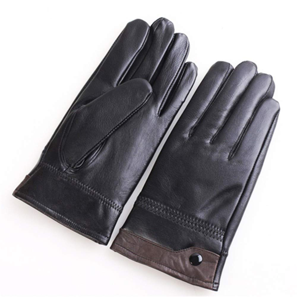 6342dbceb714 SDFVG Men s Gloves Mitaines en Cuir Véritable pour Hommes Gants en Cuir d hiver  Gants