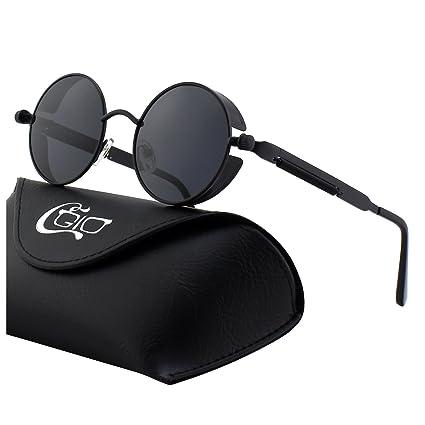 f5647ded3f7 CGID E72 Retro Steampunk Style Men Women Round Metal Circle Polarized  Sunglasses  Amazon.ca  Luggage   Bags