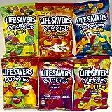 Lifesavers Gummies Peg Bags Bundle of 6 Great Varieties