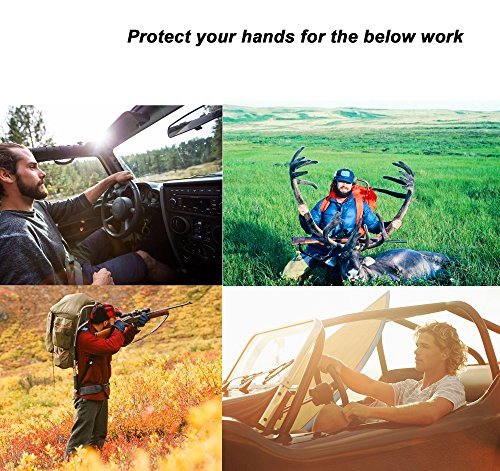 OZERO Driving Gloves, Grain Deerskin Leather Hunting Gloves Motorcycle/Riding/Shooting/Gardening/Rubbing Jewelry - Extremely Flexible Sweat-absorbent Men & Women (M/L/XL)