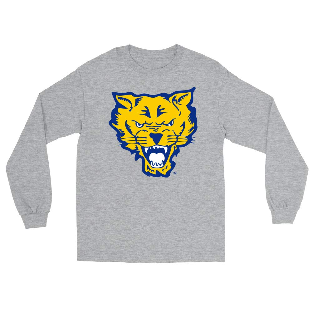Official NCAA Fort Valley State University Wildcats PPFVSU05 Mens//Womens Boyfriend Long Sleeve Tee