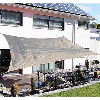 Amazon Com Outsunny Rectangle Outdoor Patio Sun Shade