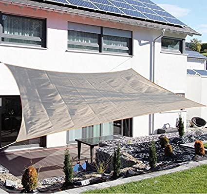 Charmant Outsunny Rectangle Outdoor Patio Sun Shade Sail Canopy, 20 X 16 Feet, Light