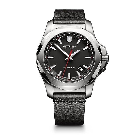 f8640fefbeff Victorinox Swiss Army de los hombres 241737.1 nbsp i.n.o.x. piel Reloj de  piel negro de cuarzo