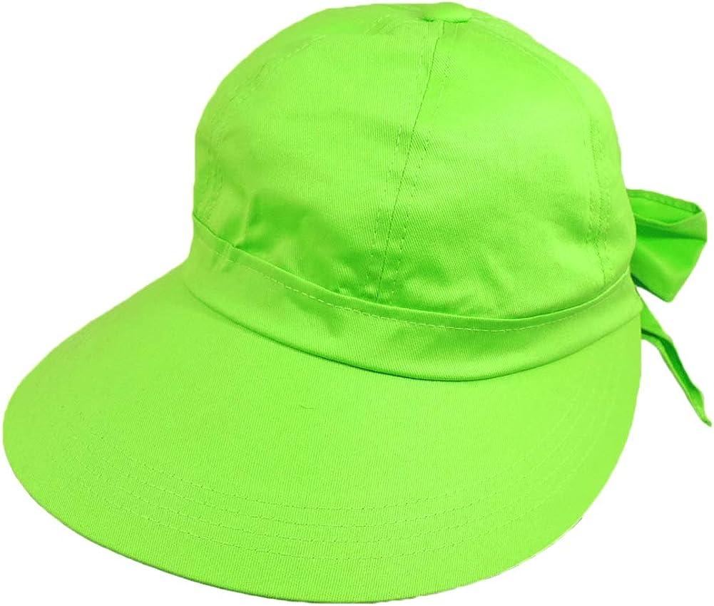 Lime Green Wide Brim Peak Gardening Sun Hat