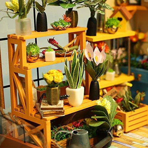 ROBOTIME DIY Dollhouse Wooden Miniature Furniture Kit Mini