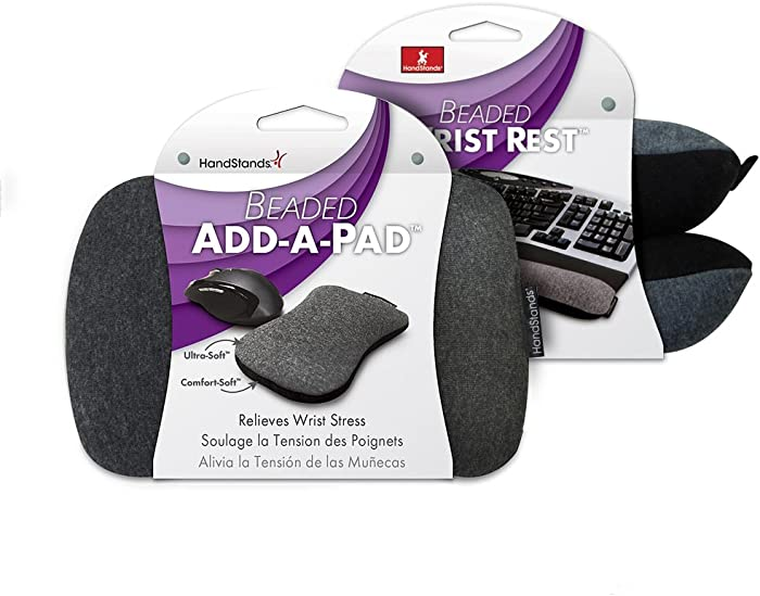 HandStands Beaded Keyboard & Mouse Wrist Rest Combo
