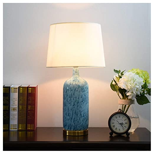 NIUZIMU Lámpara de Mesa de cerámica, lámpara de Mesa Grande con ...