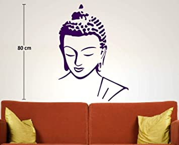 ccbe2f759d8 Buy Asmi Collections PVC Wall Stickers Beautiful God Buddha - Blue Online  at Low Prices in India - Amazon.in