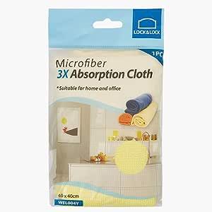 LOCK & LOCK HWEL004Y Microfiber Absorption Cloth, Yellow, 40 x 40 cm