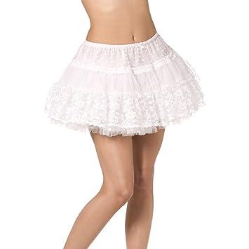 6a244b2a9b65 NET TOYS Spitzen Petticoat Damen Rock weiß Tutu Unterrock Tüll Minirock  Tütü Kostüm Zubehör