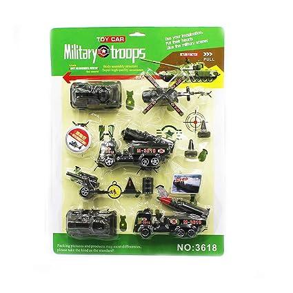 1 Set Juguetes Serie militares Mini Aviones del vehículo militar de ...