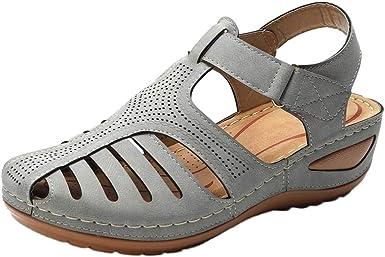 Women Hollow Round Toe Sandals, NDGDA