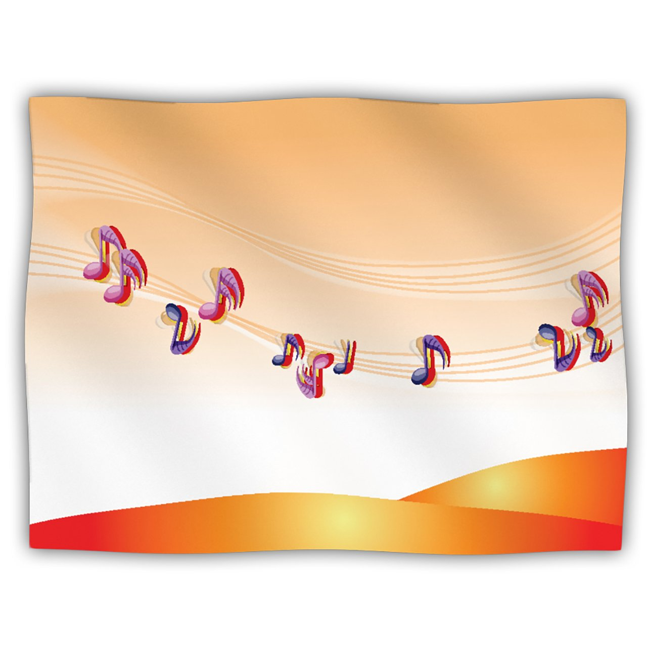 Kess InHouse Fotios Pavlopoulos Nature Music orange White Pet Blanket, 40 by 30-Inch