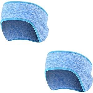 db893d8eeebcc6 AYPOW Winter Stirnband Ohr wärmer, 2 Pack leichte warme Fleece Material  Full Cover Ohrenschützer Sport