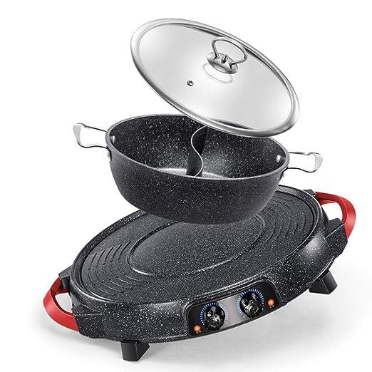 ZOUJUN Hot Pot antiadherente molde for hornear eléctrica Barbacoa ...