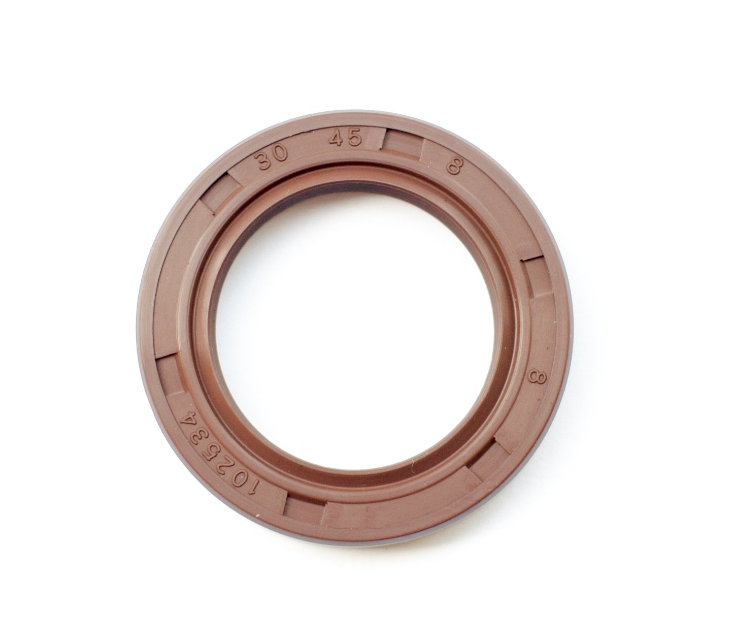 EAI Oil Seal TC 30X45X8 Rubber Double Lip with Spring 30mmX45mmX8mm
