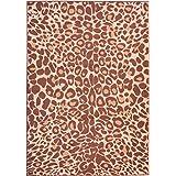 "Well Woven Cocoa Leopard Brown 8'2'' x 9'10"" 8558 Animal Print Miami Area Rug 8558"