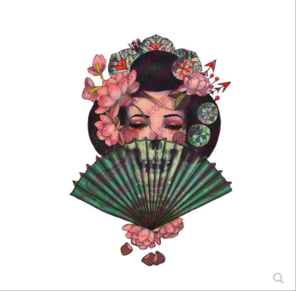 LNNHJB Flor Brazo Tatuaje Pasta Sexy Muslo Brazo Geisha Demonio Ji ...