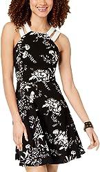 9fdbc2268f568 B Darlin Juniors' Printed Double-Strap Dress