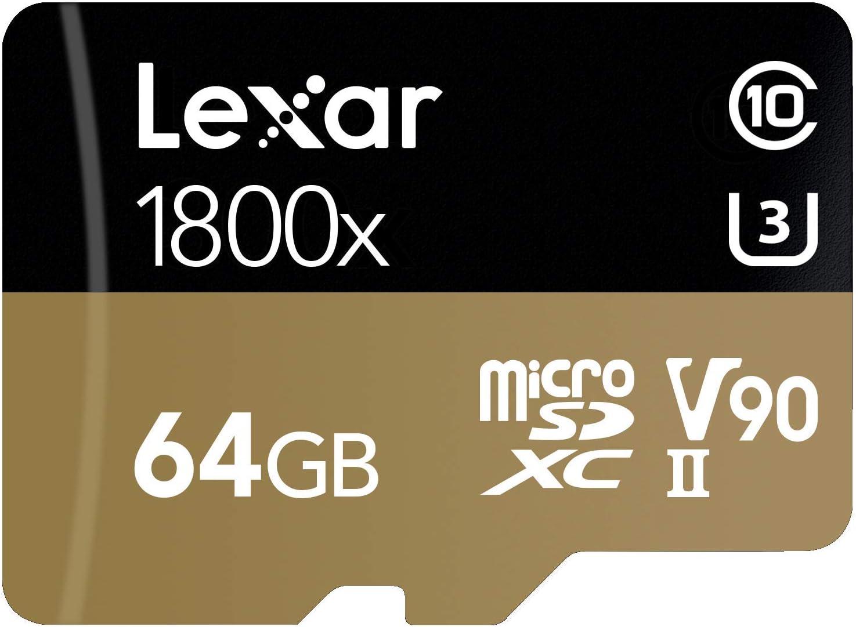 Lexar Professional 1800X 64GB MicroSDXC Uhs-II Card