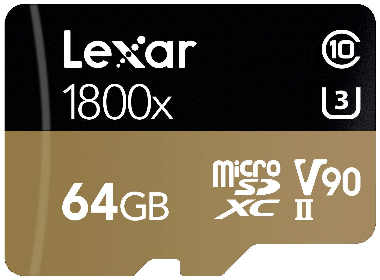 Lexar Professional 1800x 64GB microSDXC UHS-II Card by Lexar