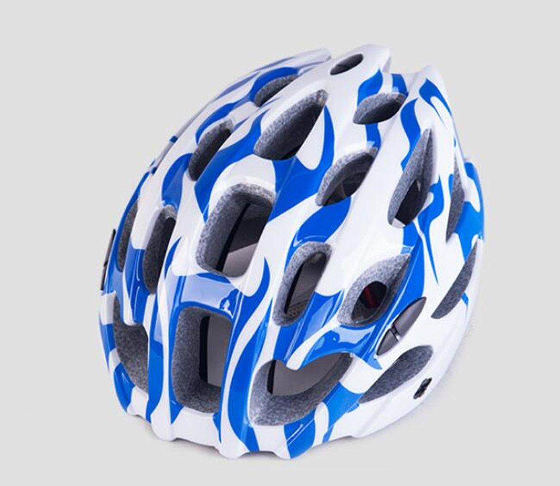 HAOXUAN Casco Casco De Bicicleta Montain Bike/Carretera, Cascos Azules Un Tamaño: Amazon.es: Deportes y aire libre