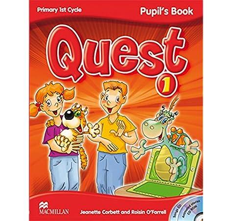 QUEST 1 Pupils Book - Pack Pupils Book + CD-ROM + Audio CD Songs + Key Booklet 1 Tiger - 9780230415942: Amazon.es: Corbett, J.: Libros en idiomas extranjeros