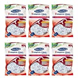 Dentek Complete Clean Floss Picks with Advanced Fluoride Coating, 90 Count (Pack of 6)