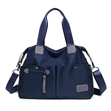 3d1761203dba7 Mufly Damen Handtasche Wasserdichte Umhängetasche Nylon Schultertasche  Vintage Hobo Taschen für Büro Schule Reise Täglich(