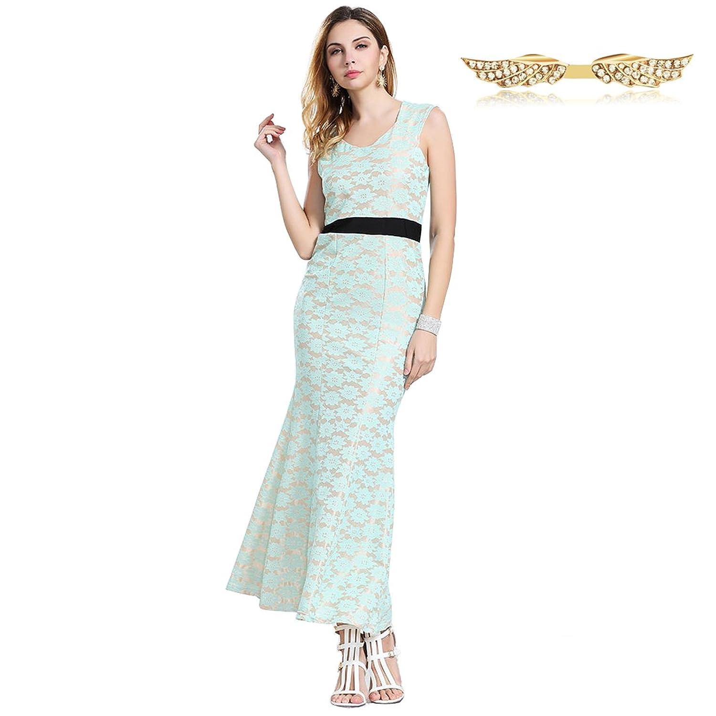Angelwing Damen Kleider Spitzenkleider Partykleider Abendkleid ...