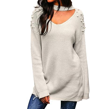 Mujer blusa tops Otoño,Sonnena ❤ Suéter para mujer fuera del hombro Blusa suelta