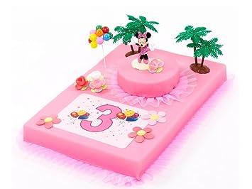 decoracin para tartas cumpleaos minnie mouse piezas tarta pasteles decorar tartas