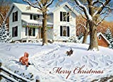 Legacy Publishing Group, Inc. Legacy Deluxe Boxed Christmas Cards, Snow Angels, 20-Count (LPD15797)